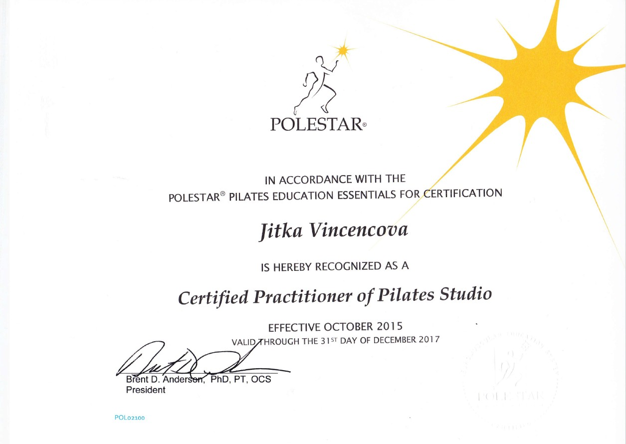 Vincencova_Certificat Polestar Studio
