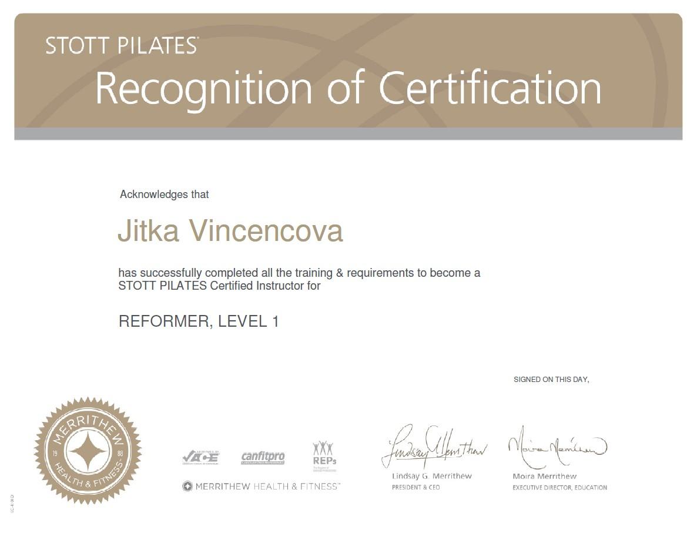 Vincencova_Jitka Vincencova Certificate Stott