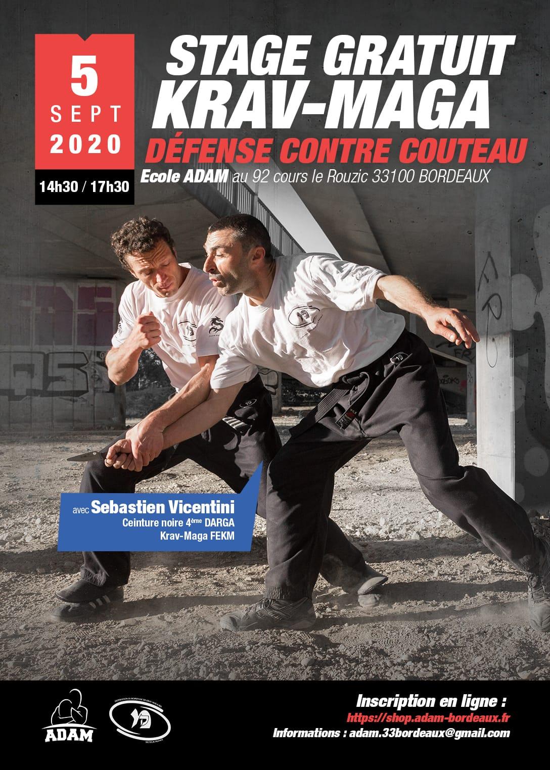 2020 Affiche stage Krav pre rentree